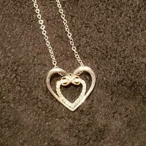 Double Hearts & Infinity Necklace